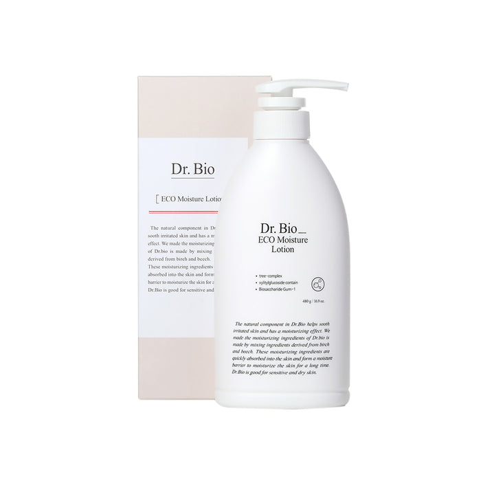 Dr. Bio Eco Moisture Lotion 480ml  Strong moisturizing protecting skin barrier from external stimuli
