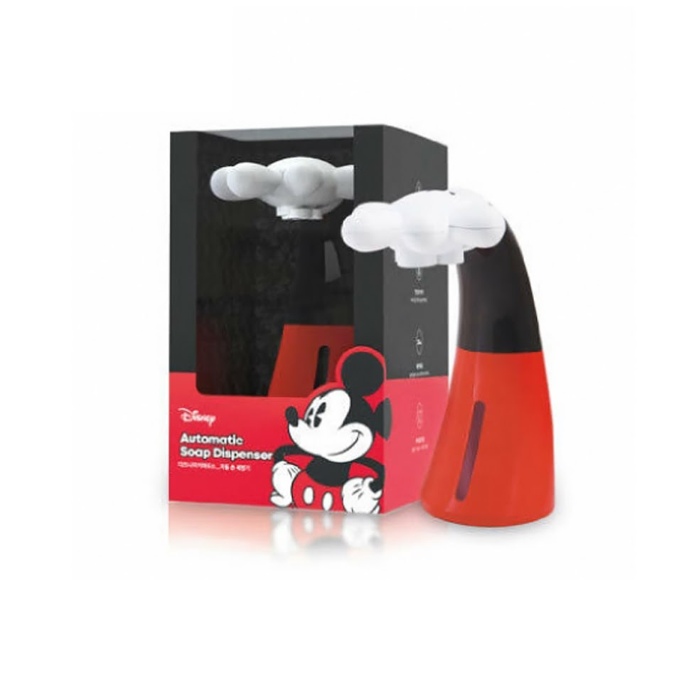 Mickey Mouse Automatic Hand Sanitizer Hand Wash Soap Dispenser + Exclusive Cleaning Liquid Set