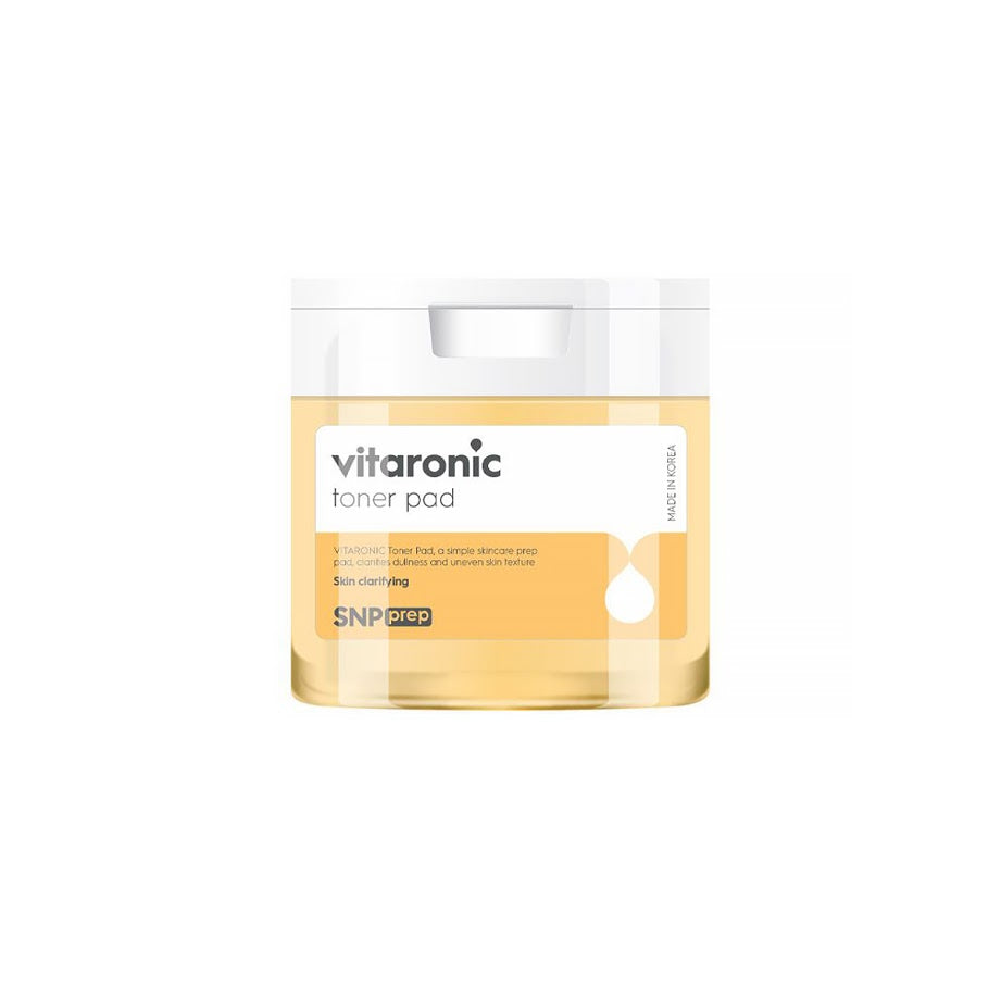 SNP Prep Vitaronic Toner Pad 135ml Contains Vitamin C and Vitamin B5 / Young Green Tangja Extract