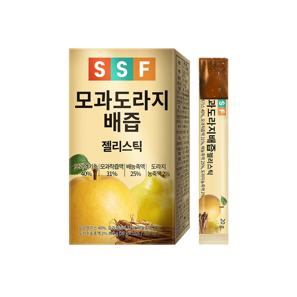 [Pure Food]Quince Bellflower Pear Juice Jelly Stick (20g x 15 packets) x 2 box