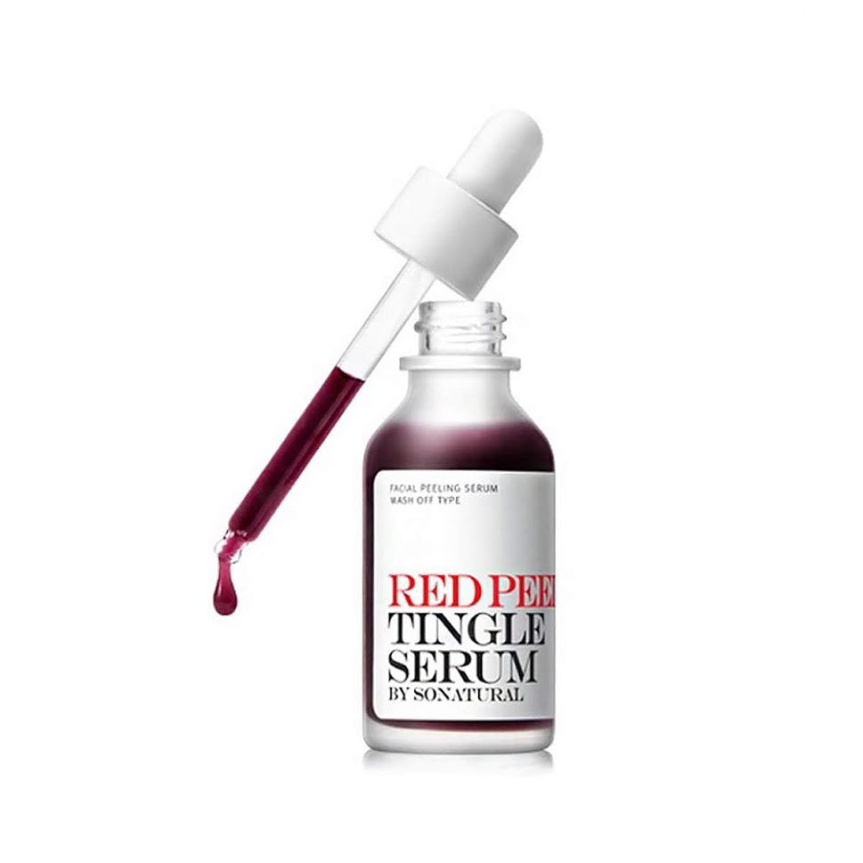 [So Natural] Red Peel Tingle Serum Facial Peeling Wash Off 35ml Strong removal of waste and sebum