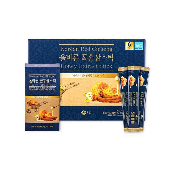 [OL JEUP] Honey Red Ginseng Stick 10g x 30 Packs x2EA (2 Box)