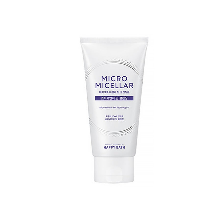 Happy Bath Micro Micella Deep Cleansing Foam 120g x 3EA  Ultra-fine dust deep cleansing