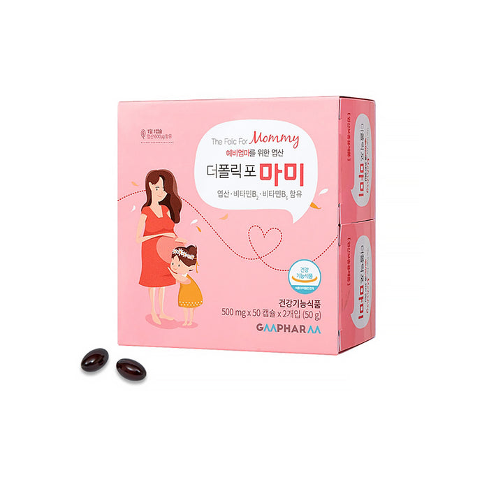 [GMPHARM]The Folic For Mommy / Daddy 500mg x 50 capsules x 2EA Pregnant Maternal nutrition