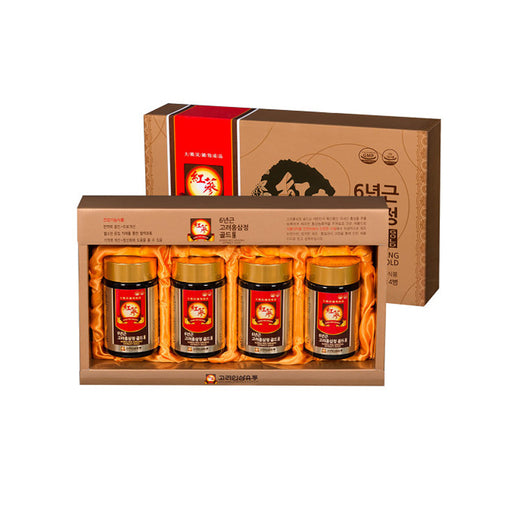 6-year-old Korean red ginseng tablet gold 250g x 4 bottles /  Essence Concentrate Extract