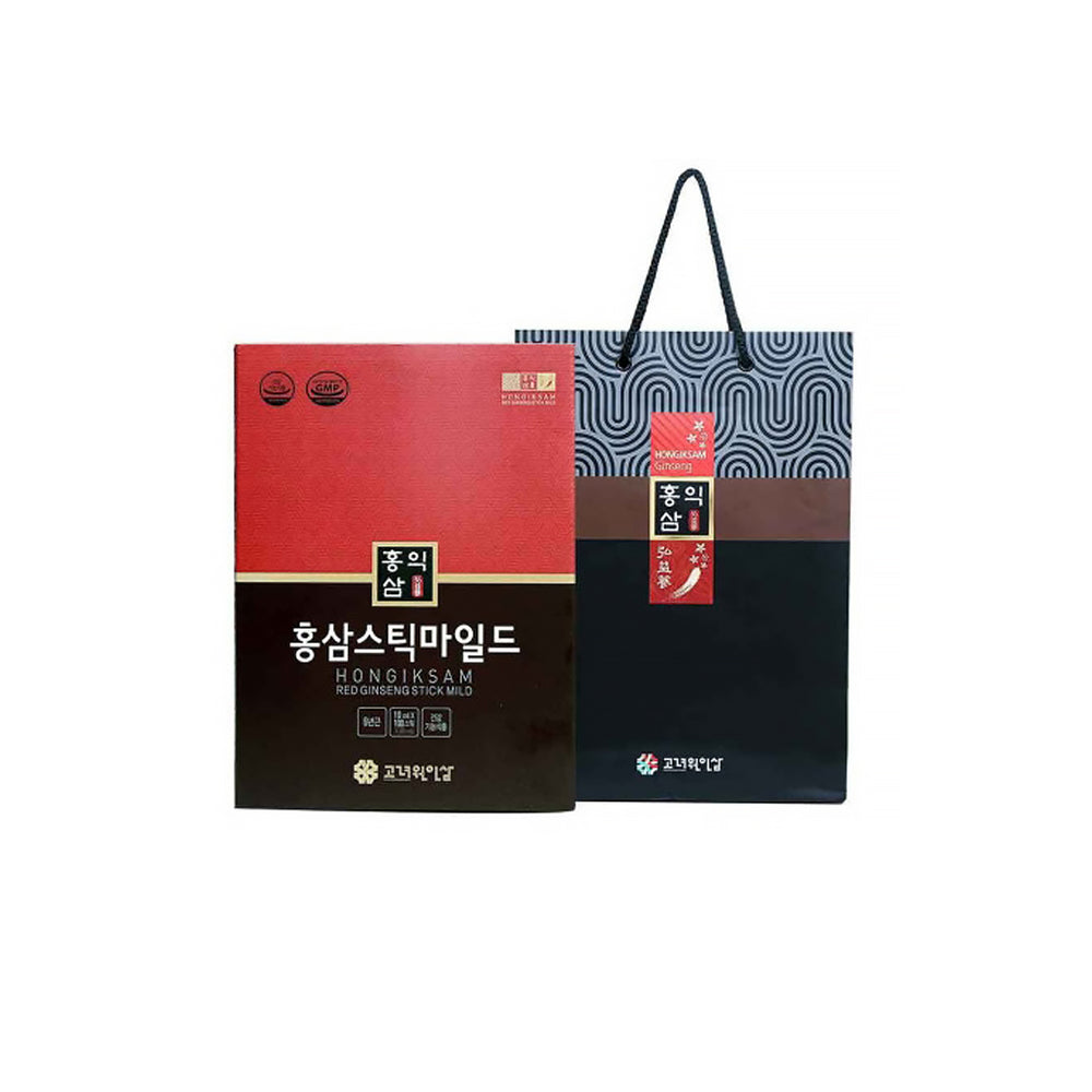 [Hongiksam] Korean Red Ginseng Stick Mild 10ml x 30EA 1Box With 50 Years Of Tradition