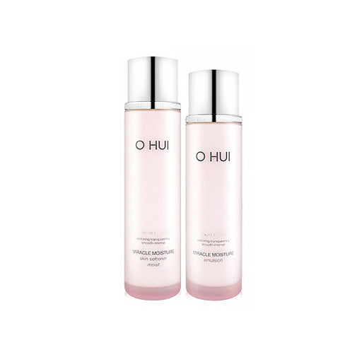 O HUI Miracle Moisture 2 Special Set Softener 150ml + Emulsion 140ml + 4 Free Gifts
