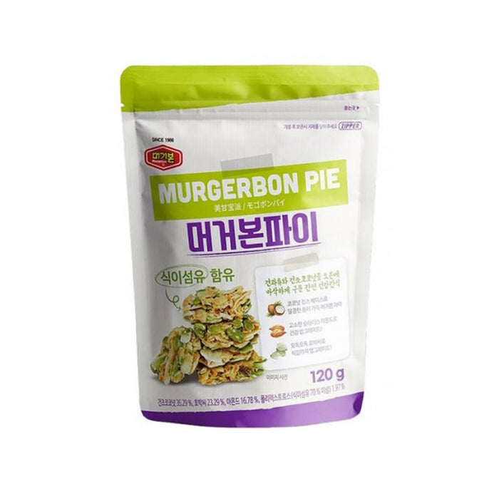 MURGERBON PIE 120g x 4/8/10EA Korean Snacks Oven-baked Healthy Snack With Nuts And Dried Coconut