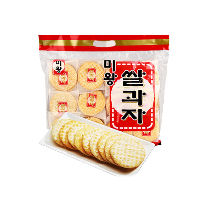Korean Food Snacks Miwang Rice Crackers 270g (10.8g x 25 bags) x  2EA