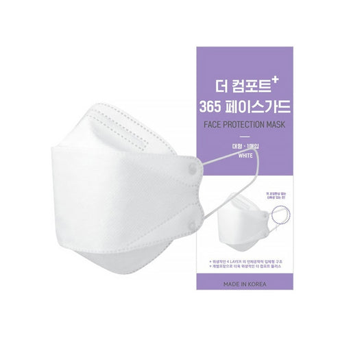 30pcs KOREA Face Protection 3D 4-PLY Premium Mask / Individual Pack / korean mask White (L)