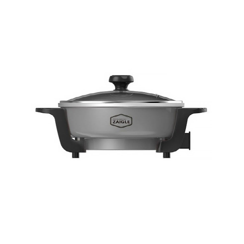 [ZAIGLE] Party Cooker Silver Multi-Electric Pot Cook Right At The Table