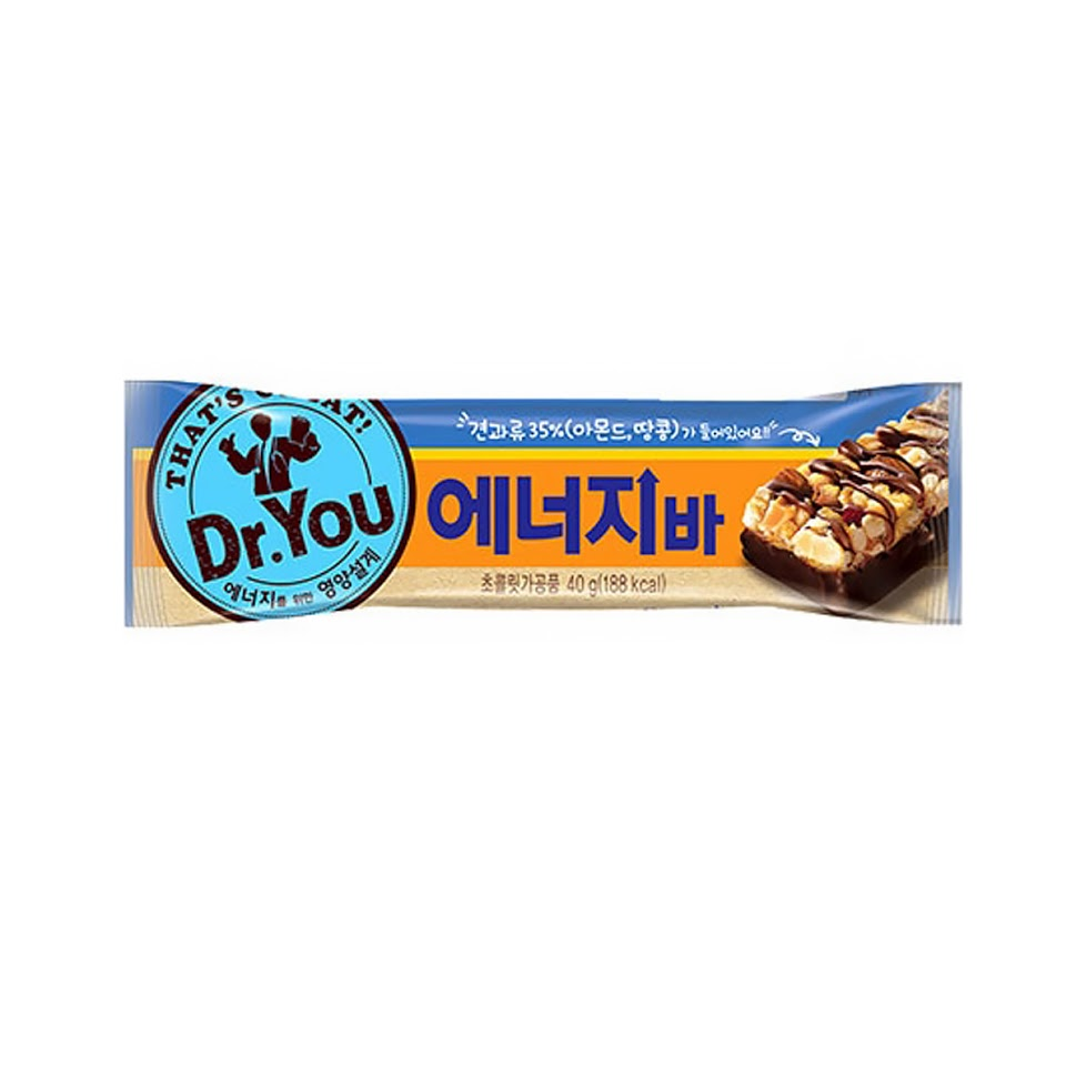 Orion Dr.YOU Energy Bar 40g(188kcal) x8/16EA Nutritional snack calorie balance
