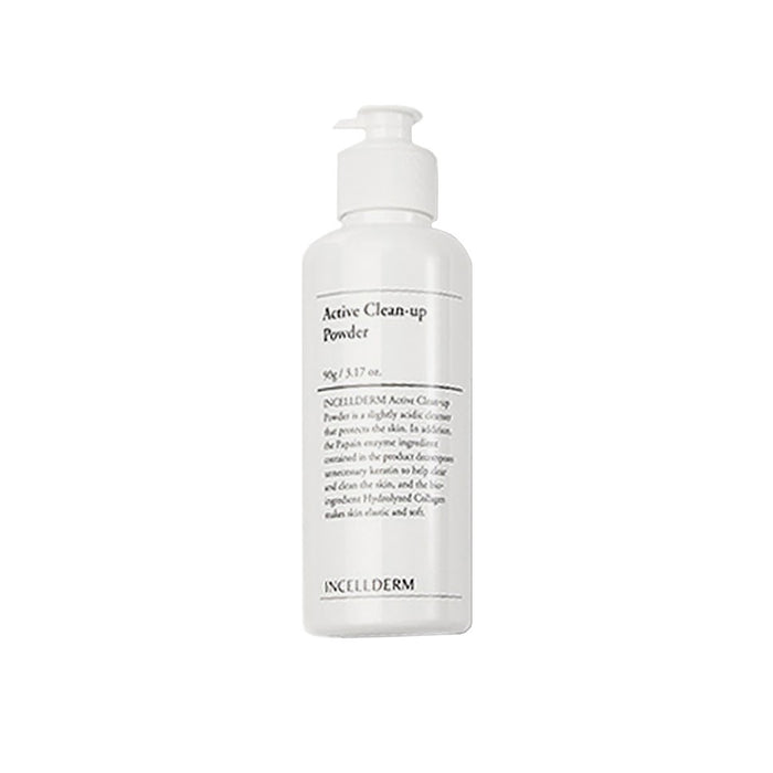 [INCELLDERM] Active Clean Up Powder Cleanser 90g Powder Enzyme Zero Harmful Ingredients PH Balance