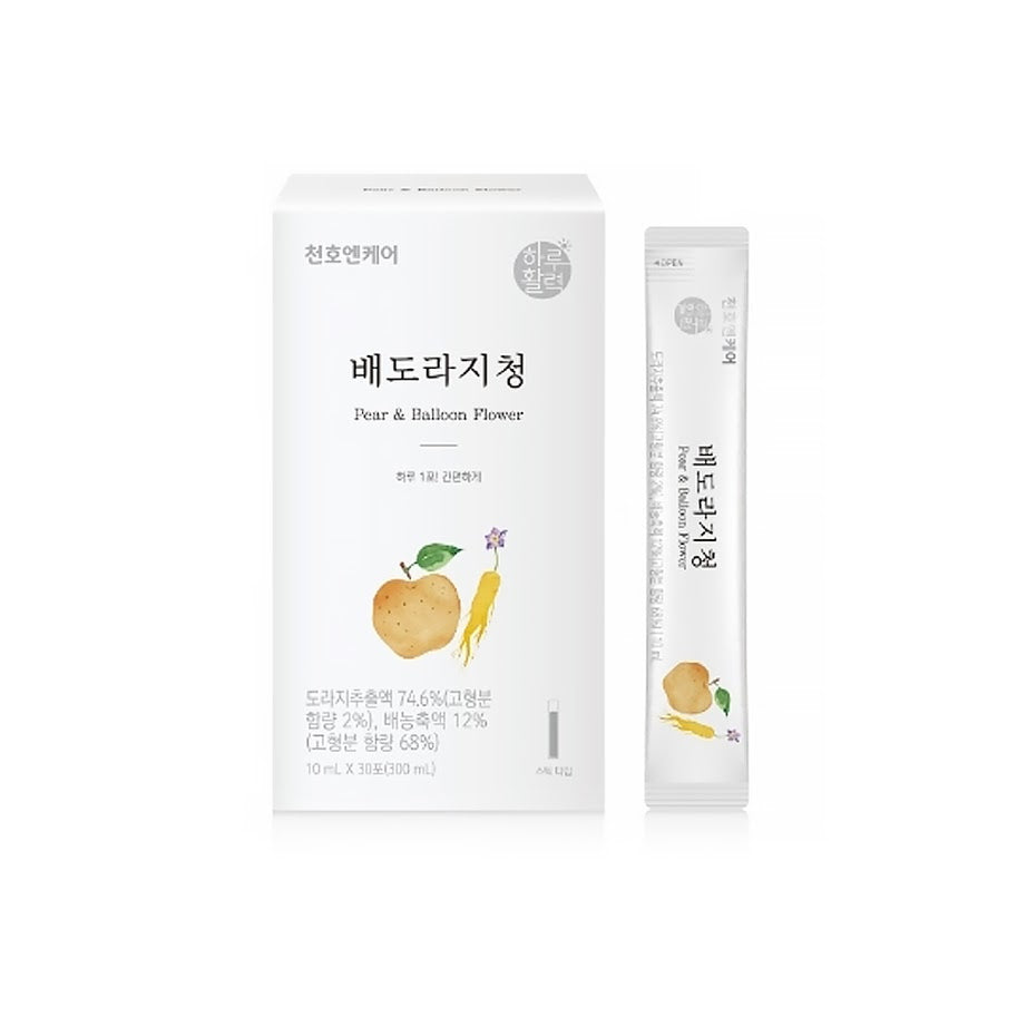 KOREAN Tea Cheonho Encare Pear Bellflower TEA (10ml x 30P) Added jujube quince concentrate
