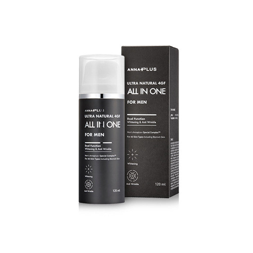 Anna Plus 4GF Mens Skin Lotion All-in-One 120ml Skin /lotion /Essence/Moisture /Nutrition Cream 5in1