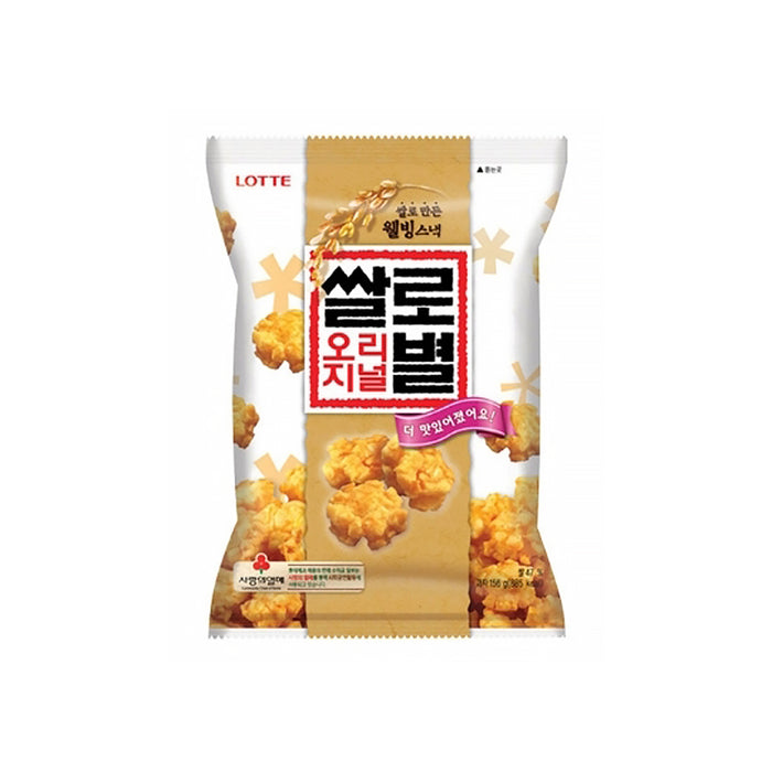 Lotte Korean Food Snacks Star shaped rice crackers 78g x 4EA Well-being snack made with rice