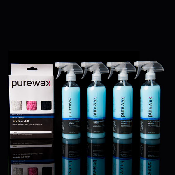 PureWax Waterless and Microfibre Combo