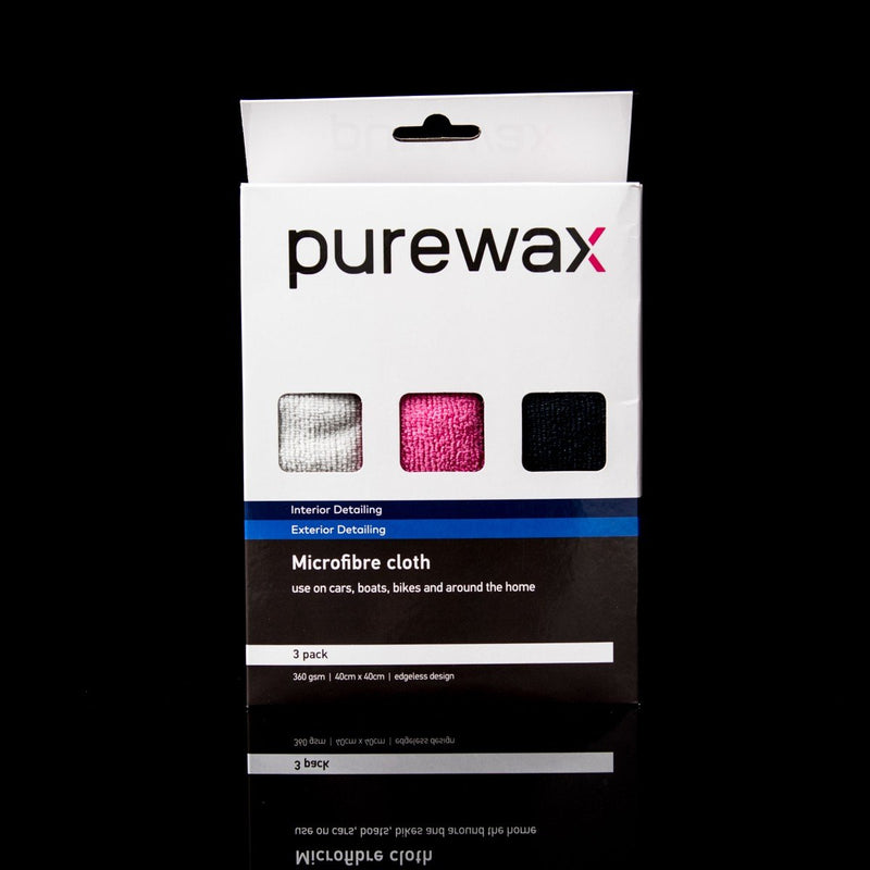PureWax Edgeless Microfibre Cloth - 3 pack