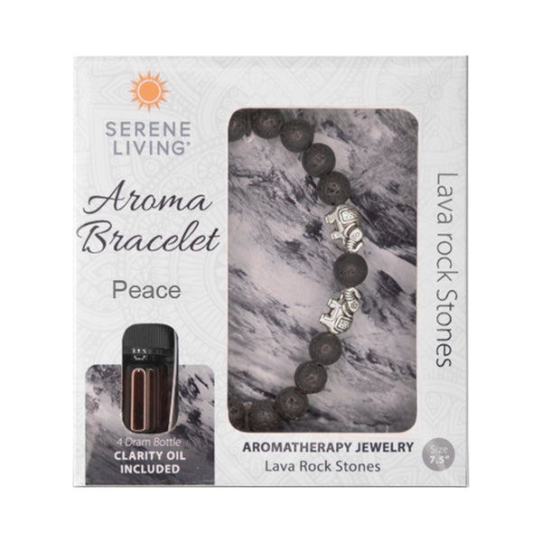 Serene Living Peace Aroma Bracelet Essential Oil Jewelry