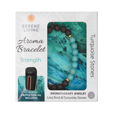 Serene Living Strength Aroma Bracelet Essential Oil Jewelry