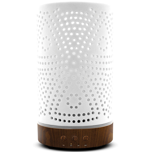 Nature's Remedy White Matte Ceramic Essential Oil Diffuser