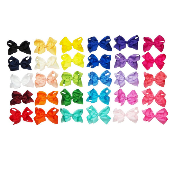Solid 6 Inch Hair Bows - Cotton Picked Cuties Boutique