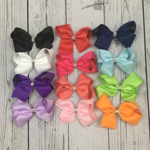 Cute Boutique Rhinestone Bows 6 inches