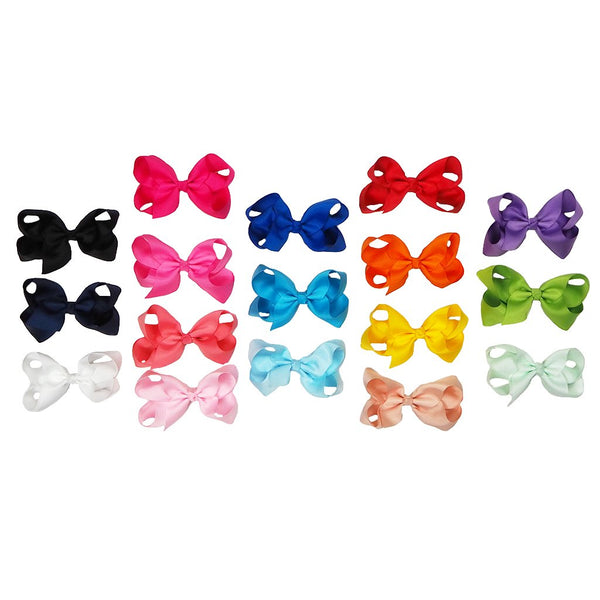 Solid 4 Inch Hair Bows