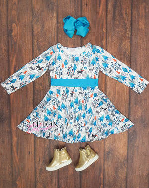 Sweet Snowy Deer Dress