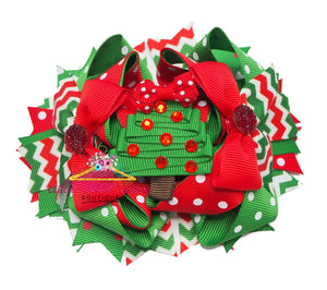 Christmas Tree Hair Bow - Cotton Picked Cuties Boutique