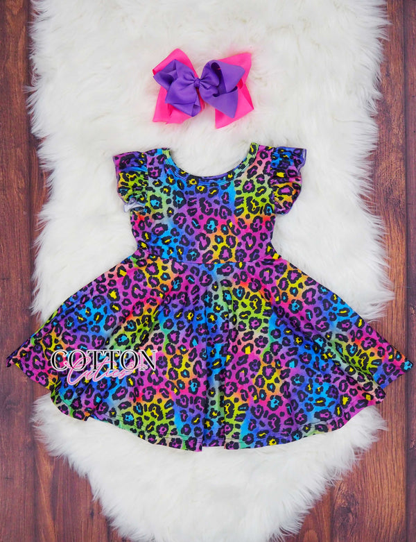 Rainbow Cheetah Dress