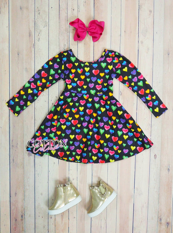 Rainbow Hearts Dress