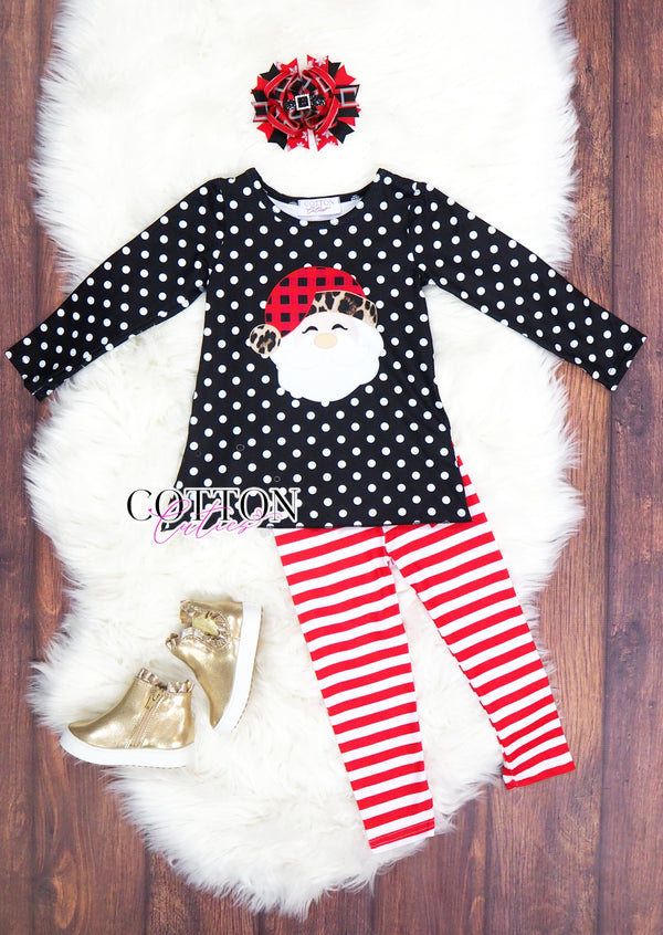 Polka Dot Santa Set