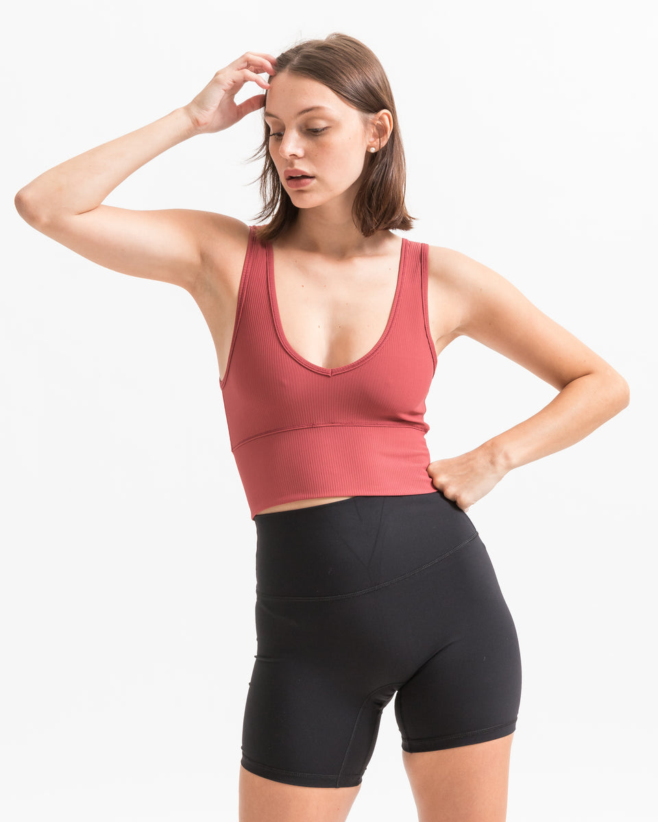 REVERSA RIBBED TOP