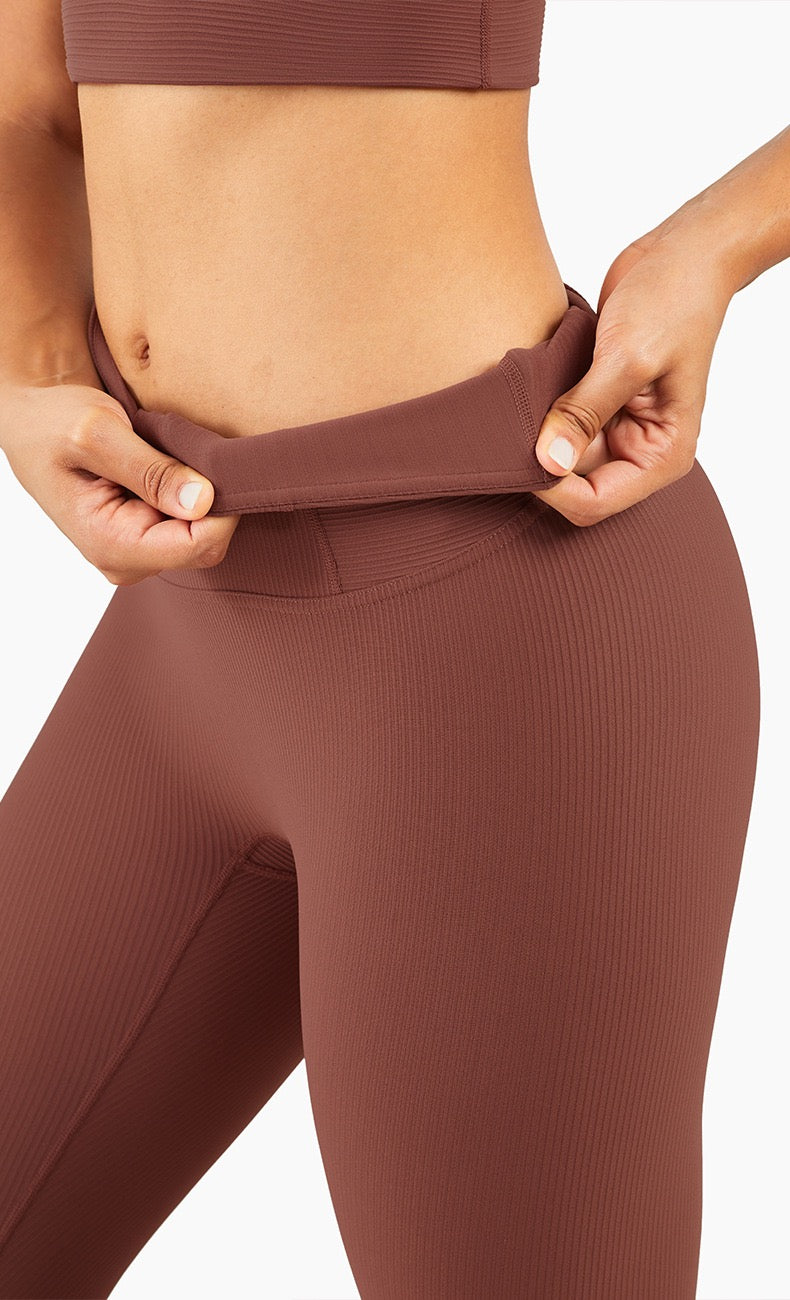 "PRO QUO RIBBED 25"" LEGGINGS"