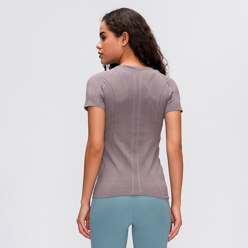 TIMELESS SHORT SLEEVE IN MAUVE