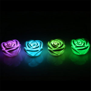 Colorful LED Floating Rose Flowers