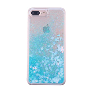 Snowflake Glitter Powder iPhone Case