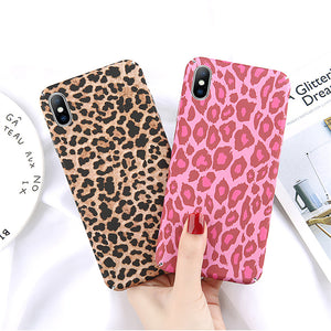 LDN Colour Retro Leopard Print iPhone Case