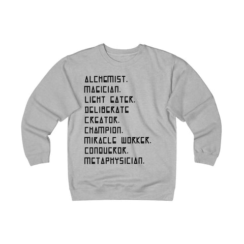 """I AM"" Unisex Heavyweight Fleece Crew Grey"