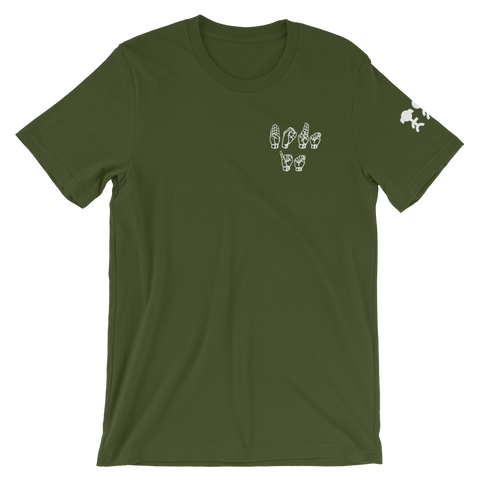 """Bout it"" Olive Tee"