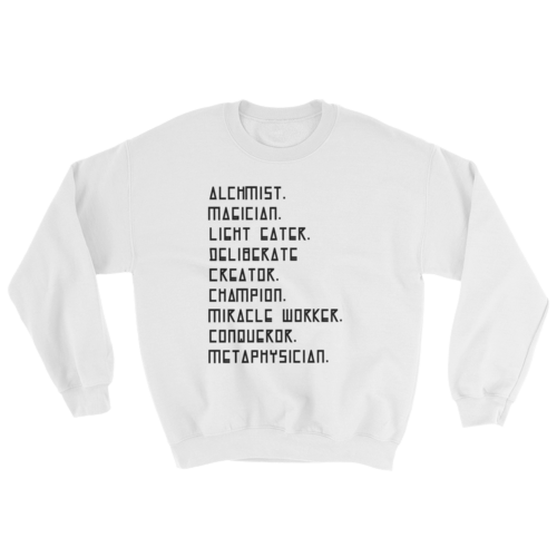 """I AM"" Unisex Heavyweight Fleece Crew White"
