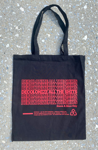 Decolonize - Tote bag - Black/Red