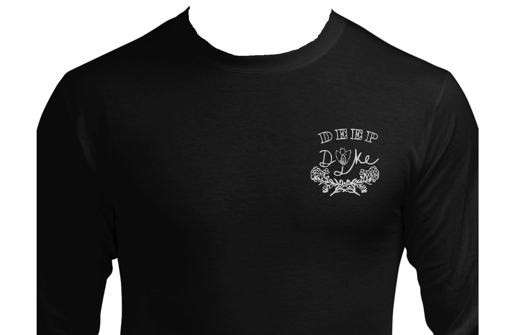 Deep Dyke long sleeved embroidered t-shirt