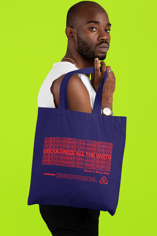 Decolonize - Tote bag - Blue/Red