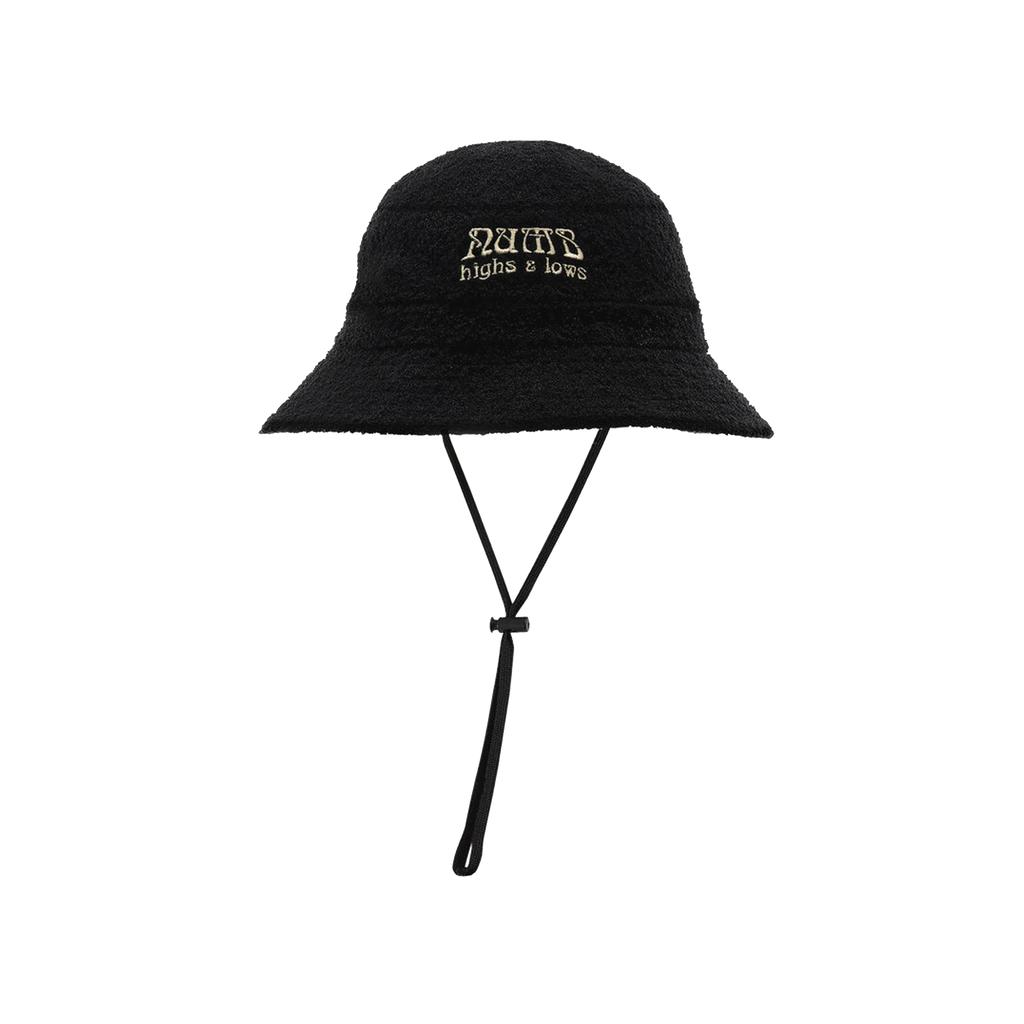 Terry Cloth Boonie Hat Black