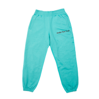 Classic Outline Logo Paneled Embroidered Sweatpants Teal