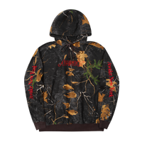 Classic Outline Logo Paneled Embroidered Hoodie Real Tree