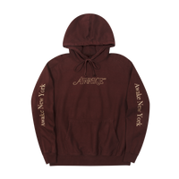 Classic Outline Logo Paneled Embroidered Hoodie Brown