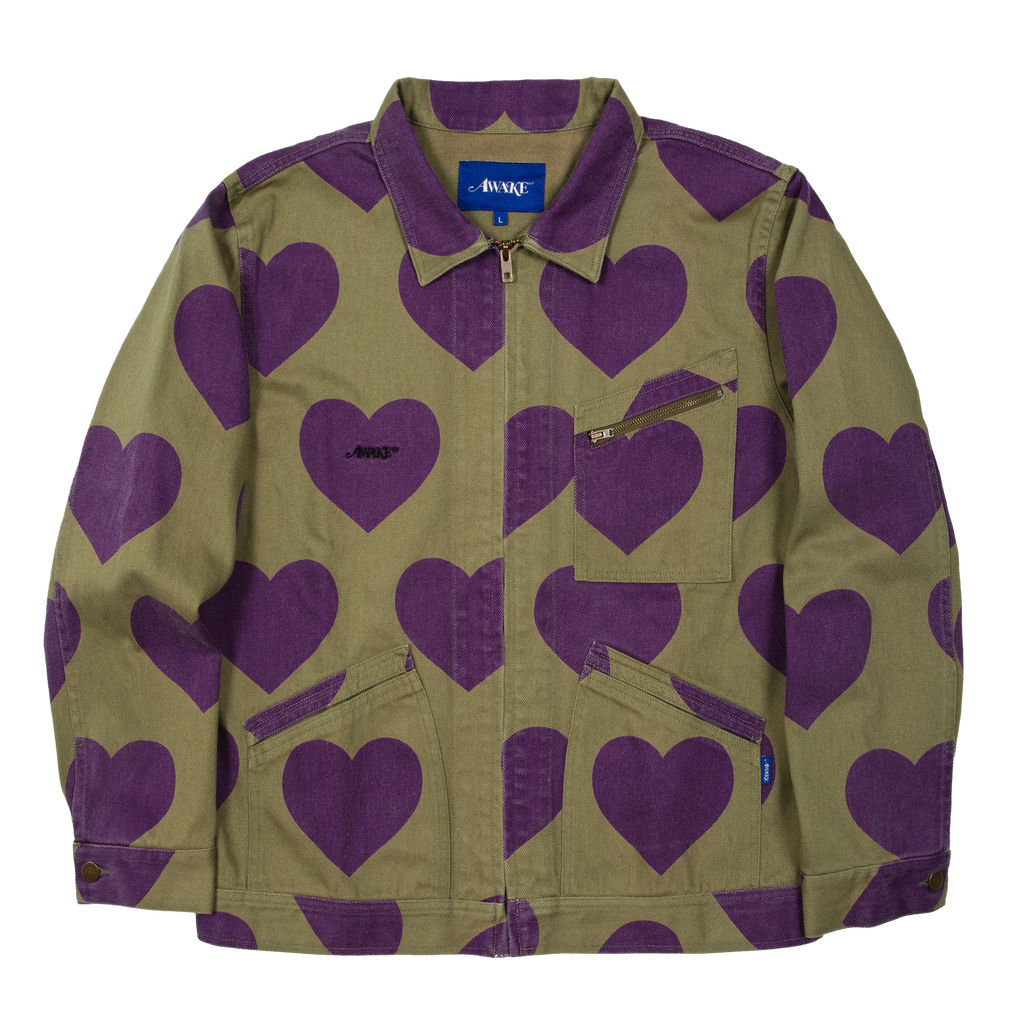 Heart Harrington Jacket Green